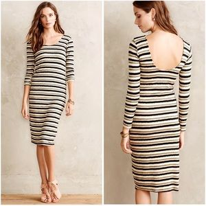 Anthro | Dolan Prita Midi Dress Stripe Scoop Back